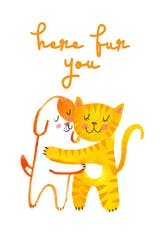 Paws and Claws - Hugs Card