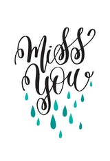 Miss You Drops - Miss You Card