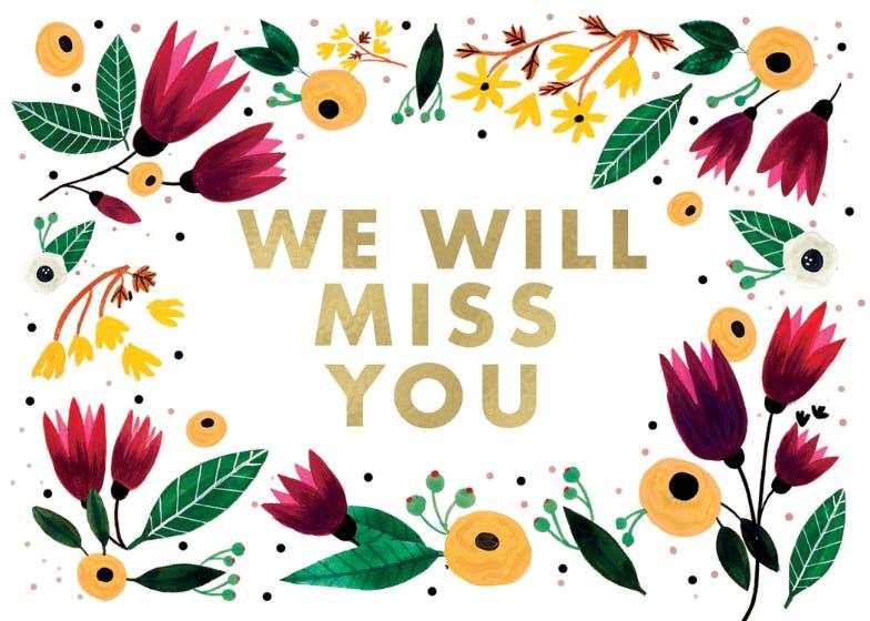 Miss u will Miss U