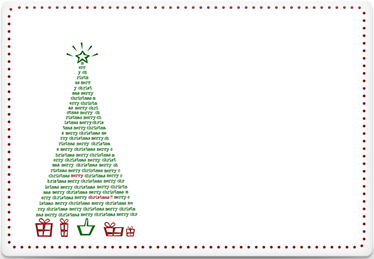 Christmas Tree - Printable Envelope Template
