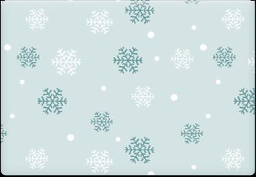 SnowFlakes - Printable Envelope Template