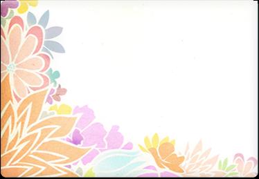 Flowers - Printable Envelope Template