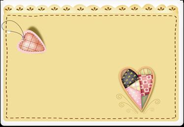 Hearts - Printable Envelope Template