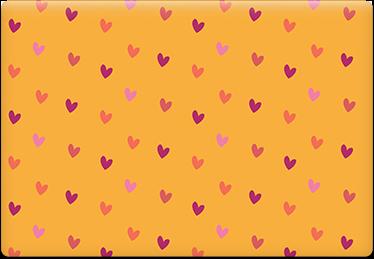 Mustard hearts - Printable Envelope Template