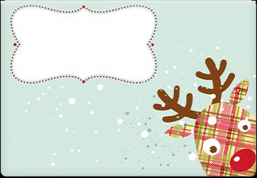 Happy holidays - Printable Envelope Template
