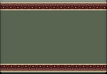 Brown on Green - Printable Envelope Template