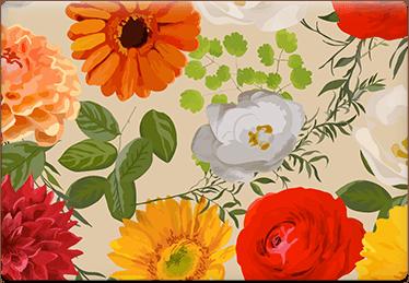 Floral Brown - Printable Envelope Template