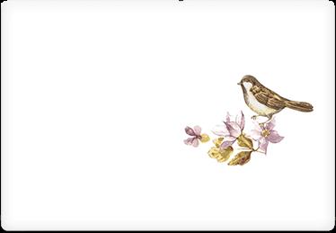 Autumn Bird - Printable Envelope Template