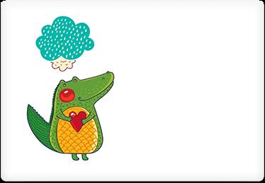 Alligator Love - Printable Envelope Template