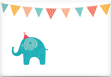 Circus Elephant - Printable Envelope Template