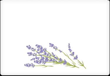 Lavender - Printable Envelope Template