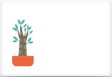 Flowerpot - Printable Envelope Template