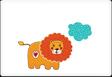 Lions dream - Printable Envelope Template