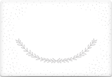 Stylized Laurels - Printable Envelope Template
