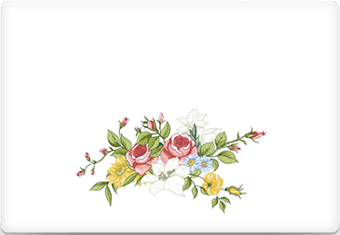 Vintage Floral - Printable Envelope Template