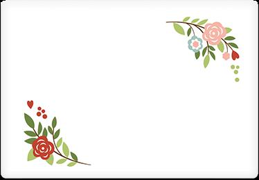 Retro Flowers - Printable Envelope Template