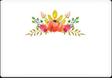 Flowers Crown - Printable Envelope Template