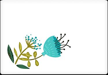 Colorful Flowers - Printable Envelope Template