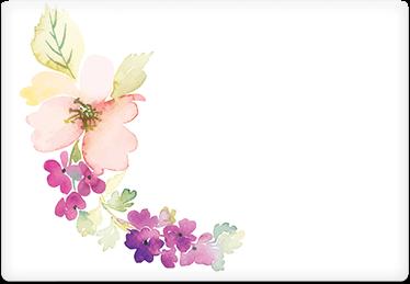 Watercolor Flowers - Printable Envelope Template