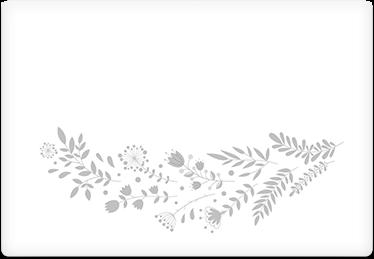 Grey Vines - Printable Envelope Template
