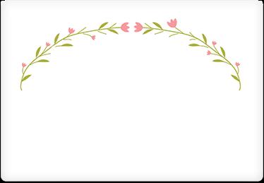 Delicate Vines - Printable Envelope Template