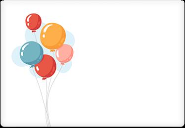 Balloons - Printable Envelope Template