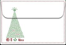 Christmas-Tree- Printable Envelope Template