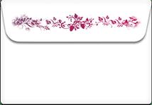 Festive-Flowers- Printable Envelope Template