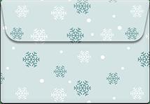 SnowFlakes- Printable Envelope Template