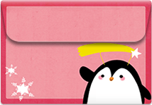 Penguin- Printable Envelope Template