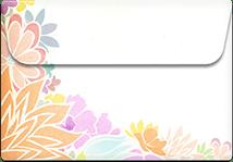 Flowers- Printable Envelope Template