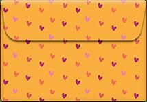 Mustard-hearts- Printable Envelope Template