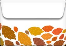 Leaves- Printable Envelope Template