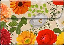 Floral Brown- Printable Envelope Template