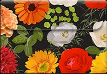 Floral Black- Printable Envelope Template