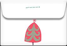 Christmas Dots- Printable Envelope Template