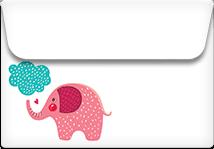 Elephant Dream- Printable Envelope Template