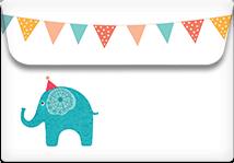 Circus Elephant- Printable Envelope Template