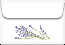 Lavender- Printable Envelope Template