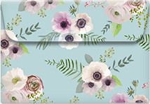 Anemones- Printable Envelope Template