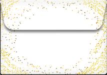Glitter- Printable Envelope Template