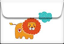 Lions dream- Printable Envelope Template