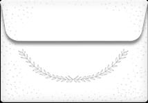 Stylized Laurels- Printable Envelope Template