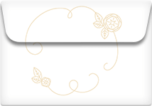 Flower Line- Printable Envelope Template