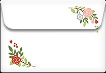 Retro Flowers- Printable Envelope Template