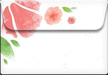 Pink Petals- Printable Envelope Template