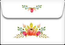 Flowers Crown- Printable Envelope Template