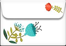 Colorful Flowers- Printable Envelope Template