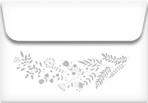 Grey Vines- Printable Envelope Template