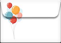 Balloons- Printable Envelope Template